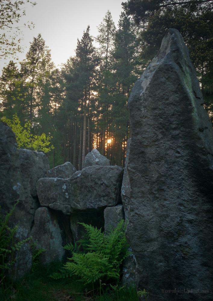 Druid's Temple, sunset © Bryony Whistlecraft   MooredgeintheMist.com