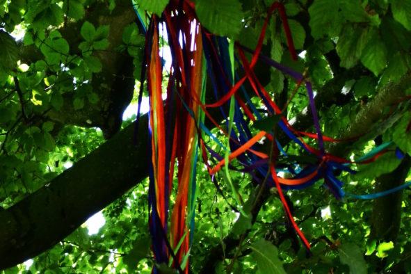 Avebury Wishing Trees, ribbons in the tree branches © Bryony Whistlecraft | MooredgeintheMist.com