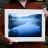Twilight Mists A4 Print, River Calder © Bryony Whistlecraft | MooredgeintheMist.com