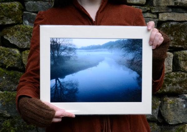 Twilight Mists A4 Print, River Calder © Bryony Whistlecraft | MooredgeintheMist.com