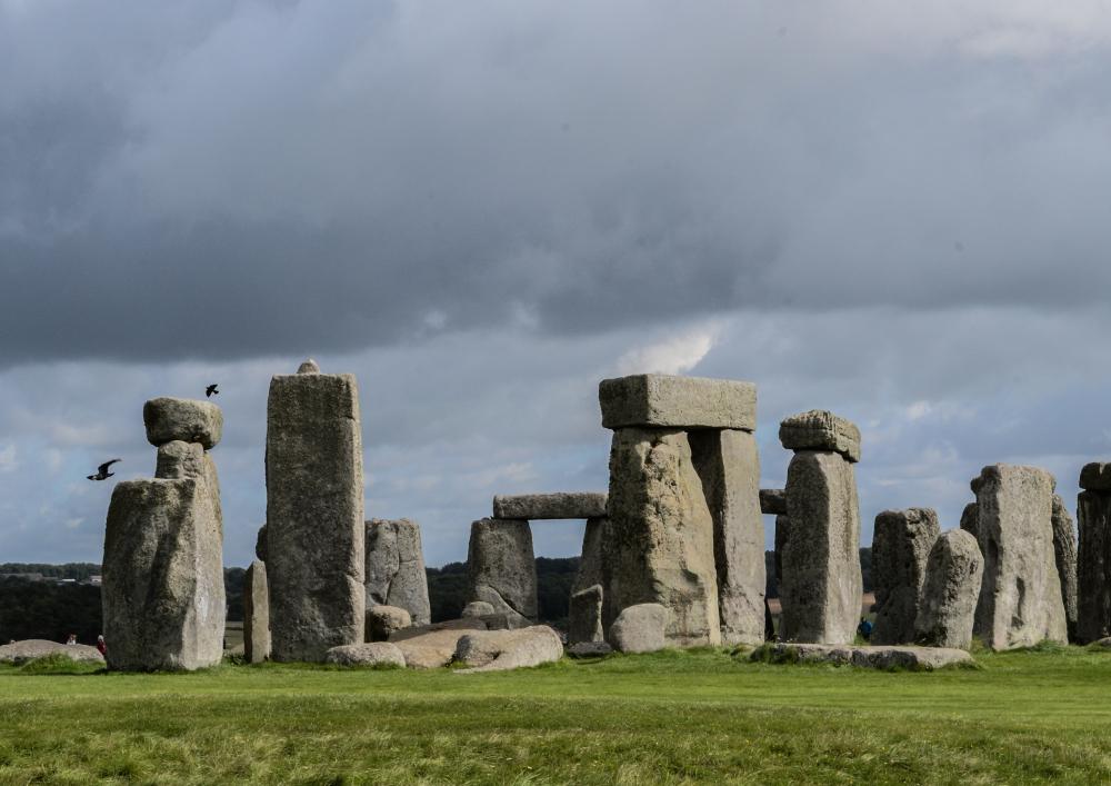 Stonehenge, corvids at the stones © Bryony Whistlecraft   MooredgeintheMist.com