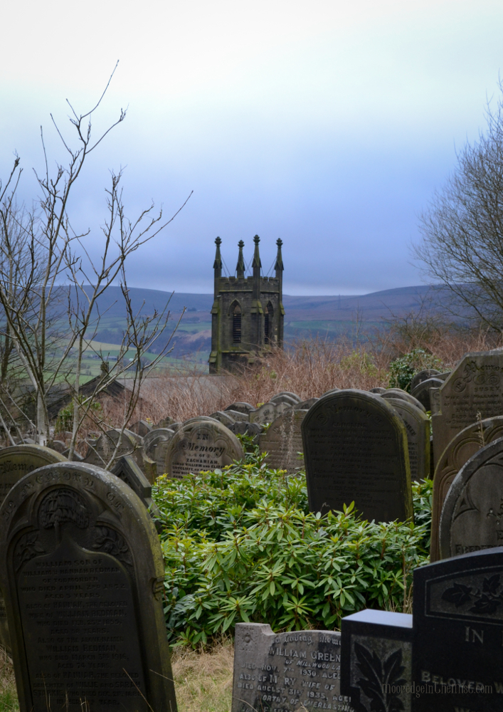 Cross Stone Cemetery, view to St Paul's Church © Bryony Whistlecraft | MooredgeintheMist.com