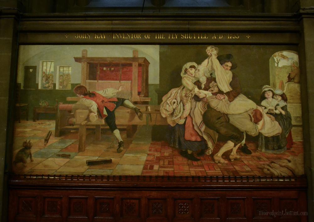 John Kay Mural by Ford Maddox Brown, Manchester Town Hall © Bryony Whistlecraft | MooredgeintheMist.com